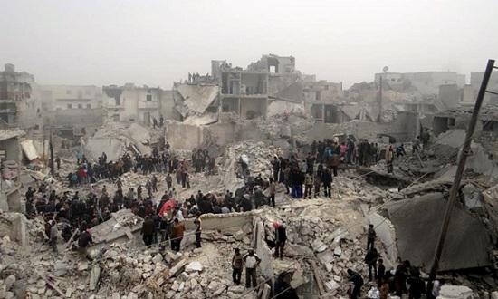 Aleppo-airstrike