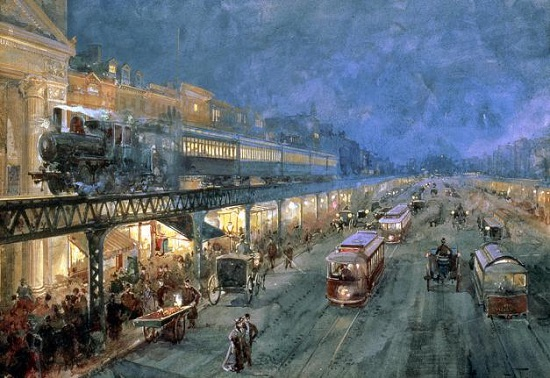 Bowery-at-night-william-sonntag