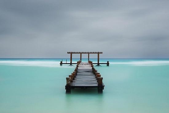 Pier-blue
