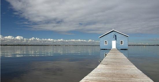 Blue-boathouse