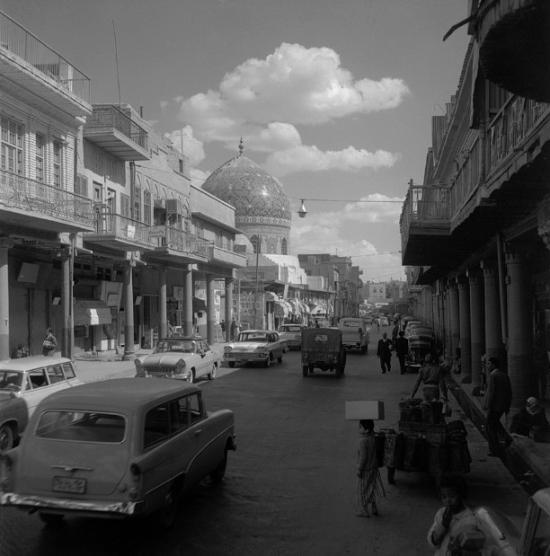 Latifalani-Rashid street  Haydarkhana  baghdad  1961