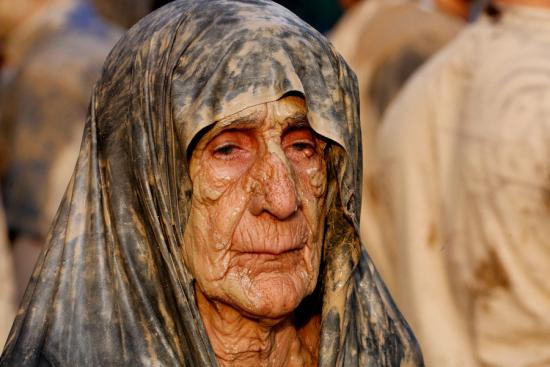 Iran-mudwoman