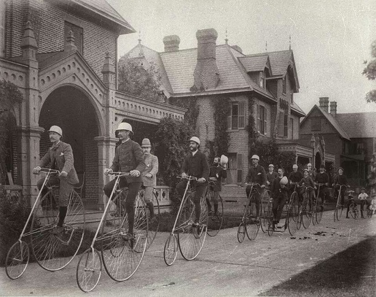 Kendall Green bicycle club, 1884