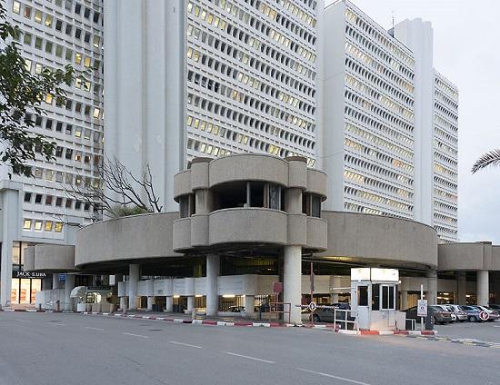 Dan hotel parking lot, Tel Aviv, Israel, 2015