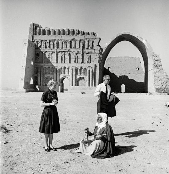 Latifalani-American couple at Taq Kasra  Al Mada'in  Salman Pak  Baghdad  1965