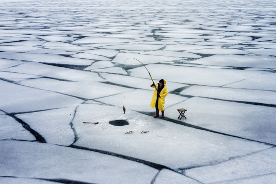 Ice-fisherman