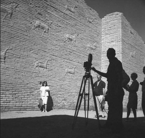 Latifalani-Shooting a film promoting tourism in Babylon  1962